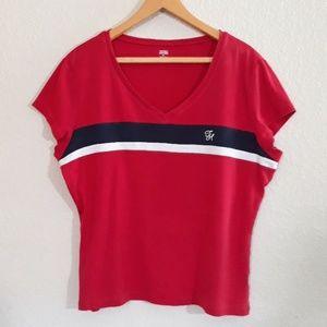 90s women TOMMY HILFIGER red shirt plus size XXL